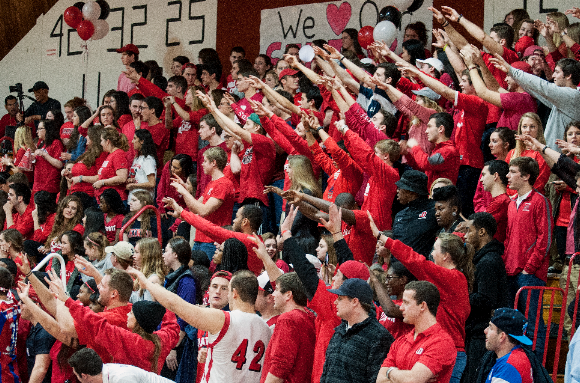 Students Show Spirit at Red Out