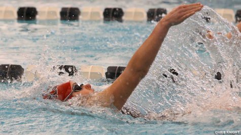 Women's Swimming Notches Narrow Win