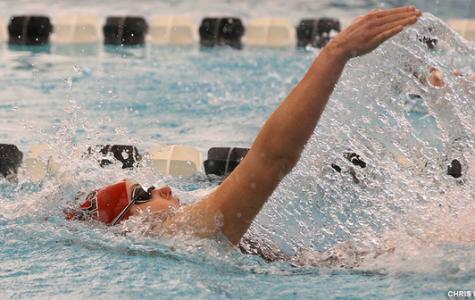 Women's Swimming Notches Narrow Win
