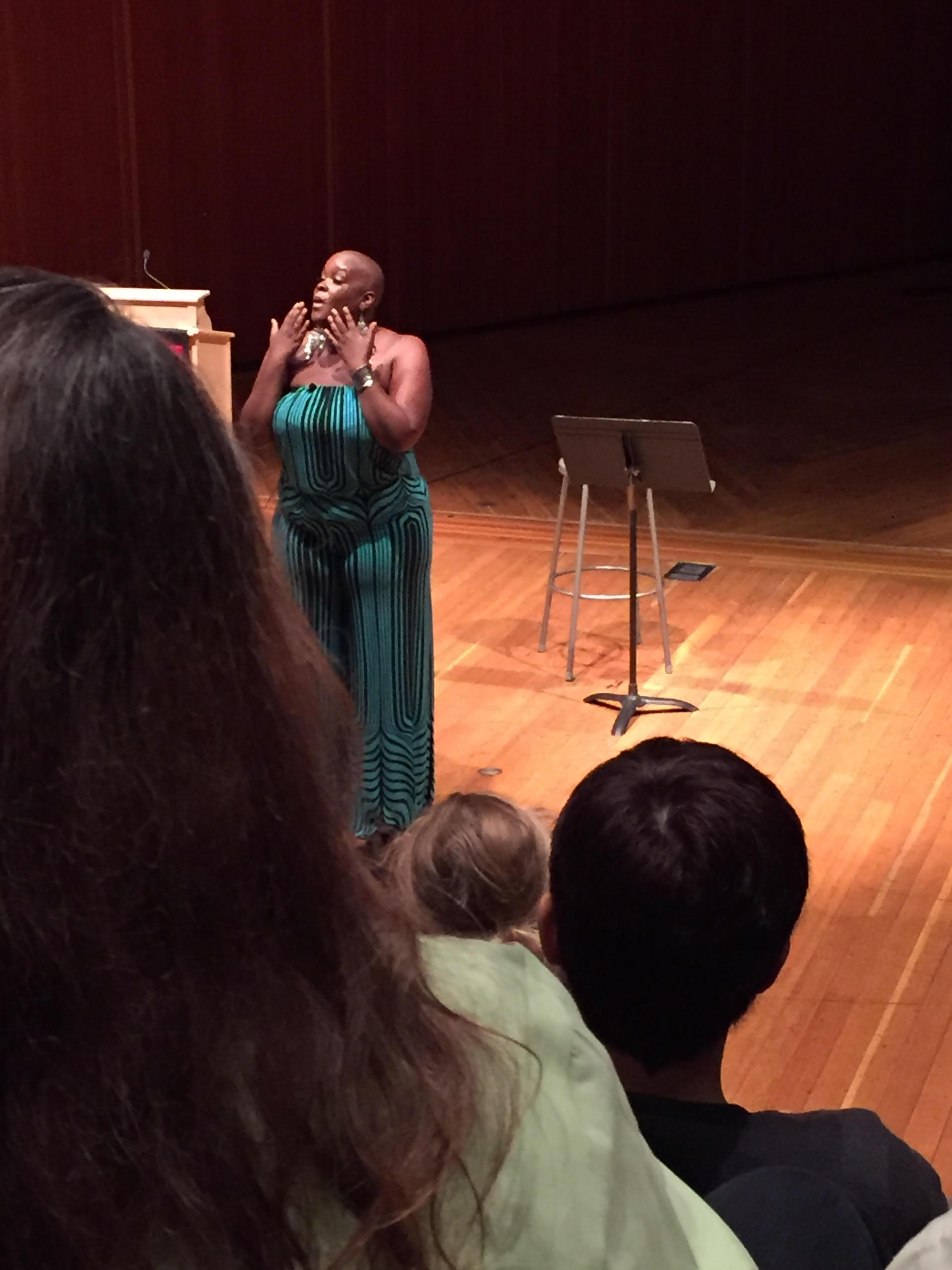 Sonya Renee Taylor presented on body positivity.