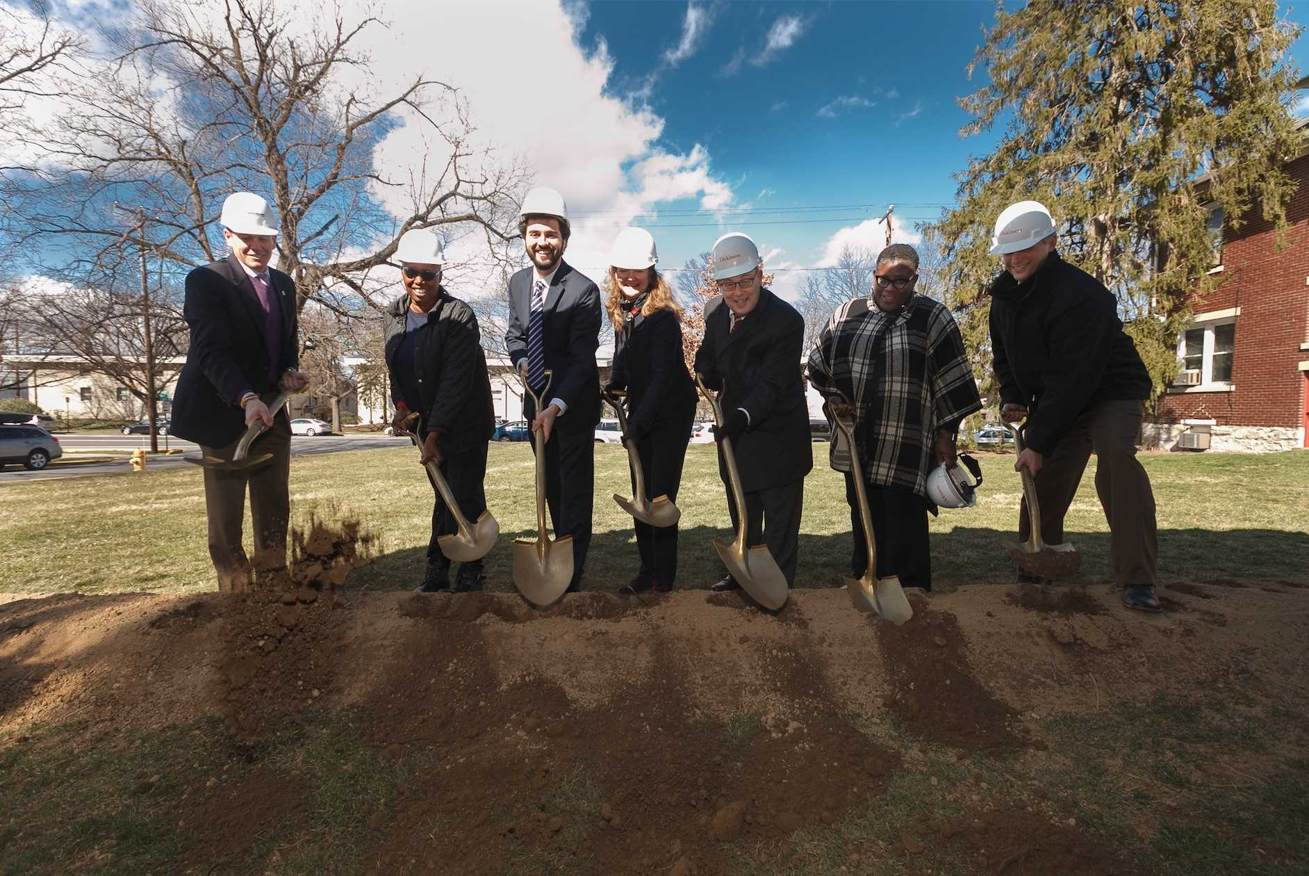 The groundbreaking took place on March 2.