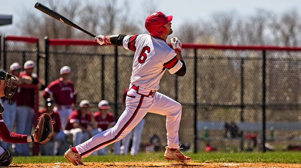 The Dickinson baseball team  blew out Washington in game one but couldn't complete the sweep.