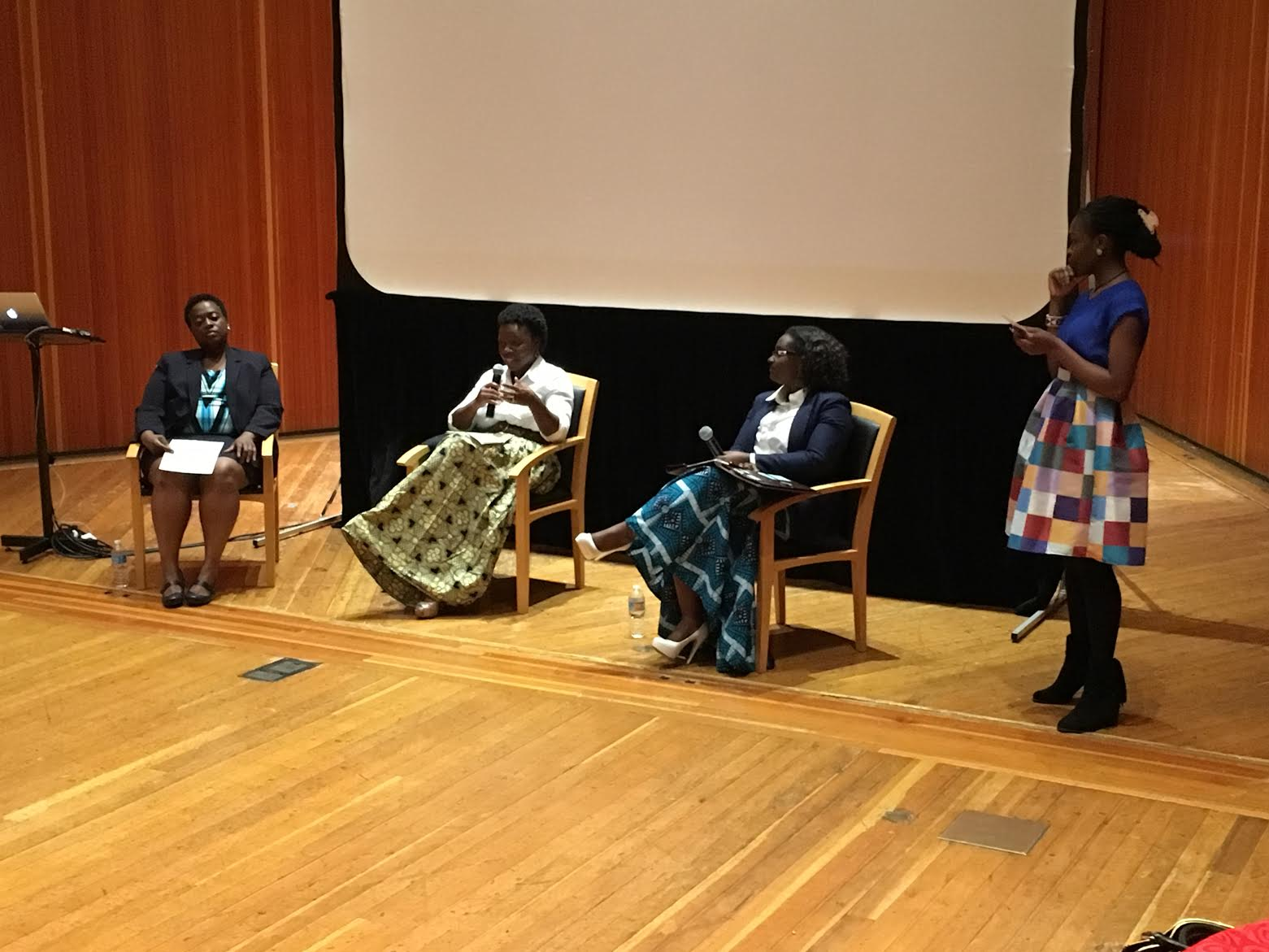 The three immigrant women all came from Liberia. From left to right: Minikon, Lee, Jallah, Ogunsola.