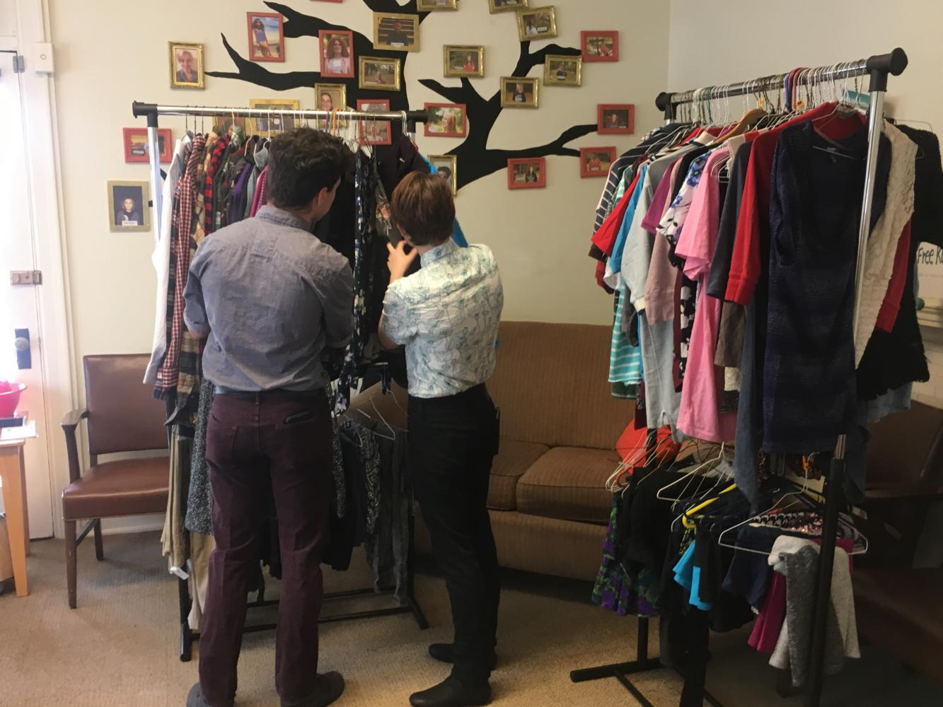 The clothing drive allowed members of the Dickinson community to donate clothes so that non gender binary conforming students could seek clothing that help affirm their identity.