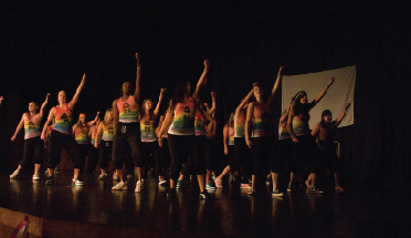A Delta Nu dance in a past Mr. Dickinson pageant; the philanthropy is now called The Best of Dickinson.