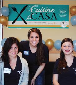 Kappa Alpha Theta members enjoying their new signature philanthropy event, Cuisine for CASA.