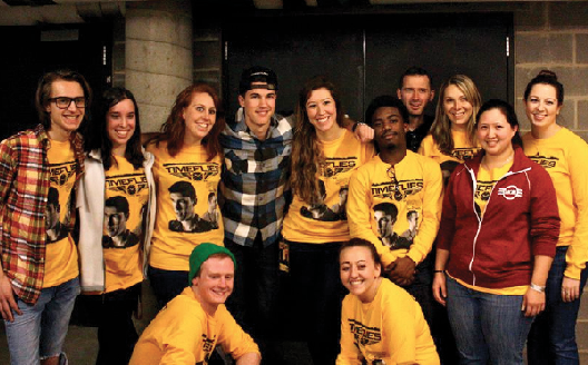 MOB exec with Timeflies before the concert
