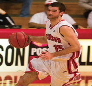 Tucker Landy '14 scored 14 points on only six shots in the 64-52 win over McDaniel on Tuesday, Dec. 3.