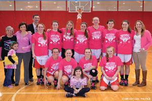 "The women's basketball team celebrated their annual ""Play 4Kay"" day on Saturday, Feb. 8. The members of the team raised money for breast cancer research in the event named after the former NC State coach who died in 2009."