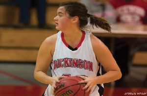 Liz Schultz '15 led the way with 16 points in the Red Devils' rout of Bryn Mawr.
