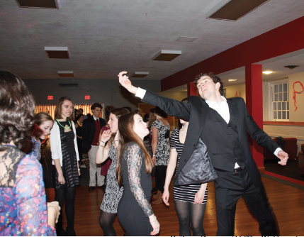 Students attend Alpha Lambda Delta's formal in