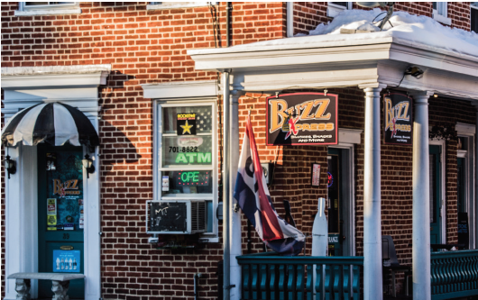 The exterior of Pomfret's Buzz Express