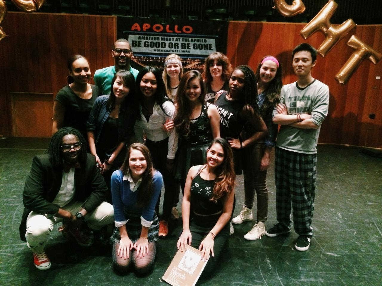 The Hypnotic dance team poses during last year's Apollo night, an annual event where they perform.