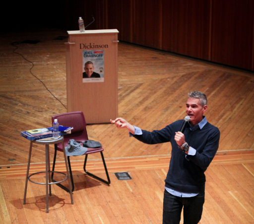 Comedian Joel Chasnoff performed standup comedy for a crowd of 150 in ATS on Friday, Oct. 23.