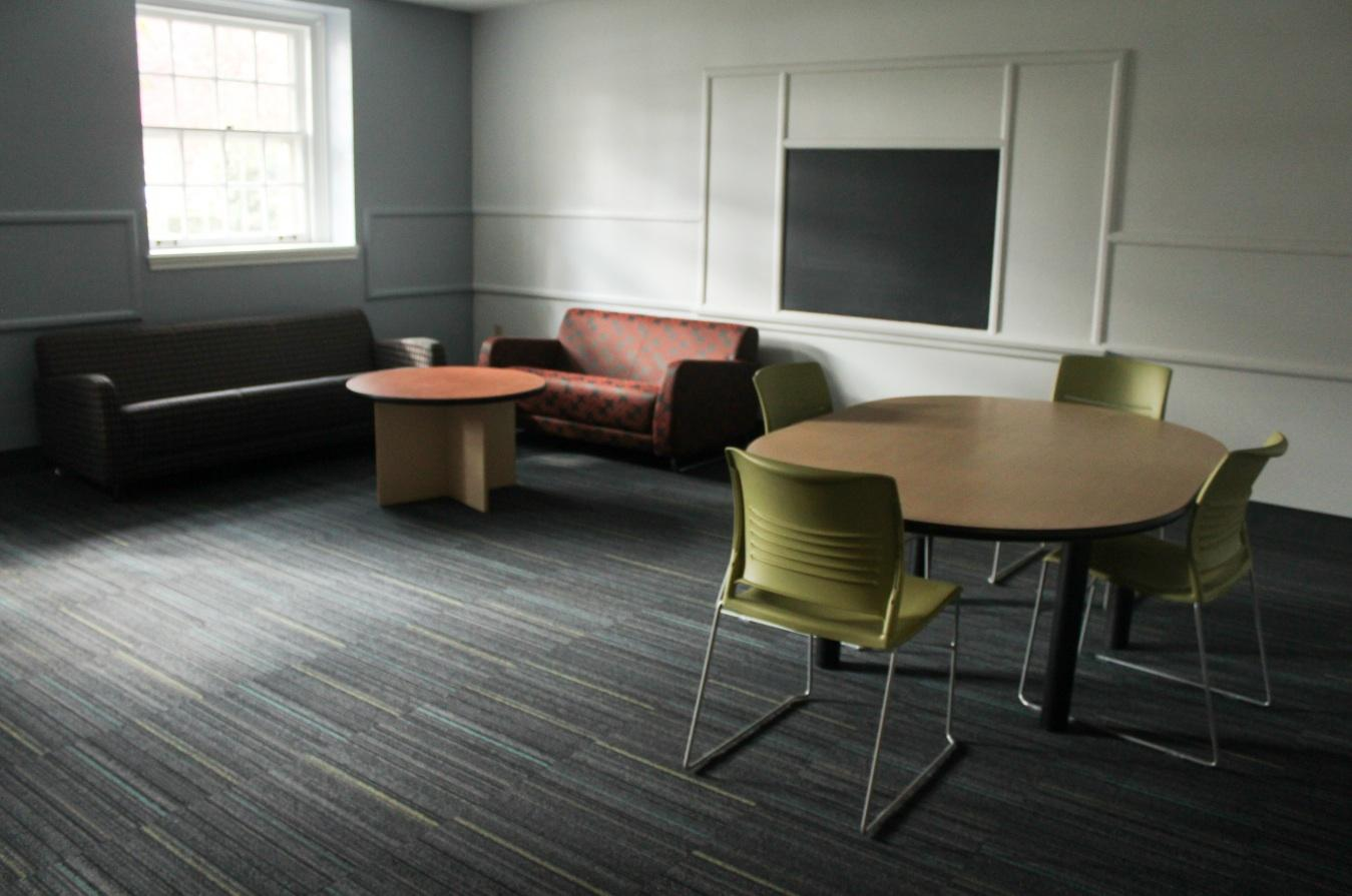 Spaces in Allison Hall have been given fresh paint and new furniture to turn them into lounge areas.