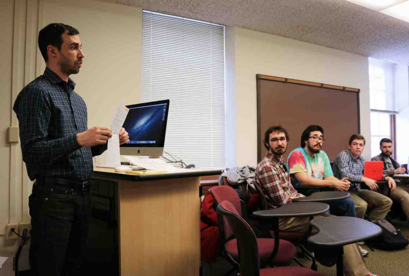 Assistant Professor of English Greg Steirer teaches English 339,