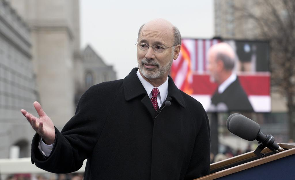Gov. Tom Wolf at his inauguration in Harrisburg on Jan. 20, 2015. Wolf will speak at the 2016 Commencement ceremony on Sunday, May 22.
