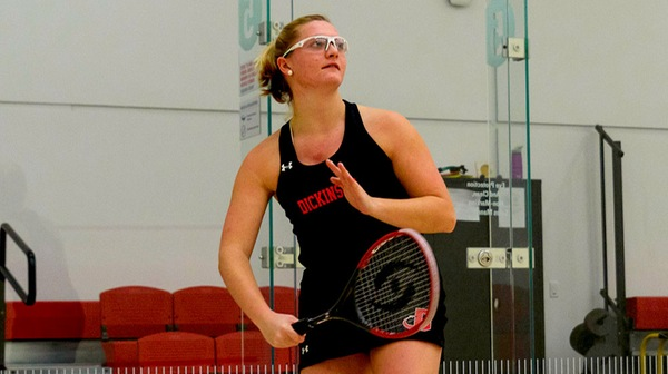 The Red Devil women's sqash team bounced back to beat Bowdoin at Princeton on Sunday.