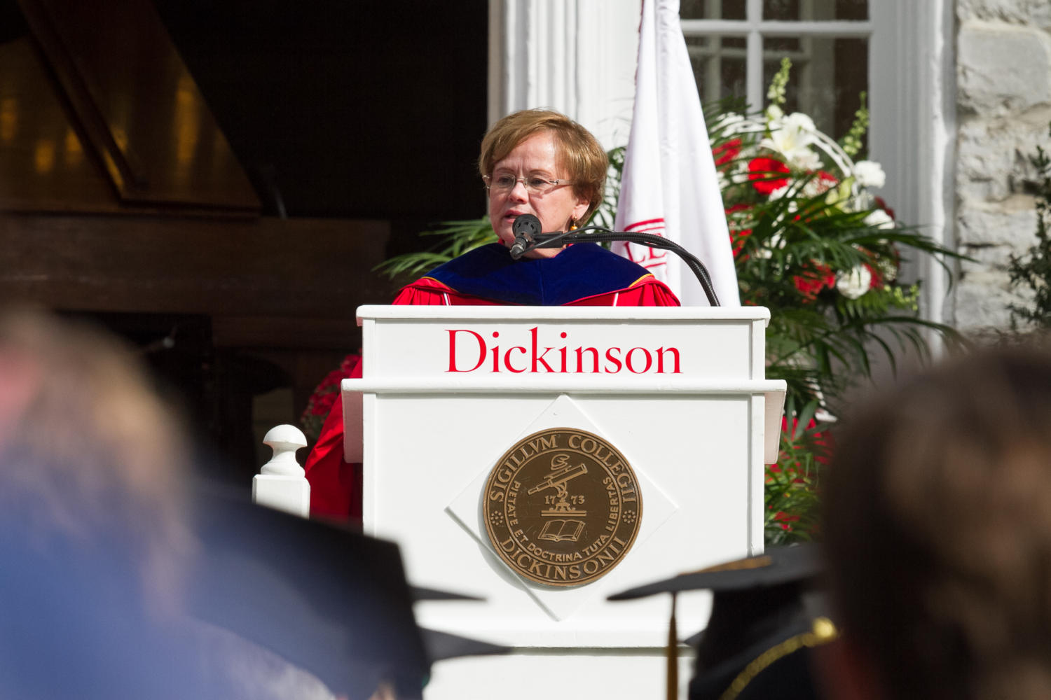 Margee Ensign, Dickinson's 29th President, was inauguarated over Parents' and Homecoming weekend after serving as president since July 1, 2017.