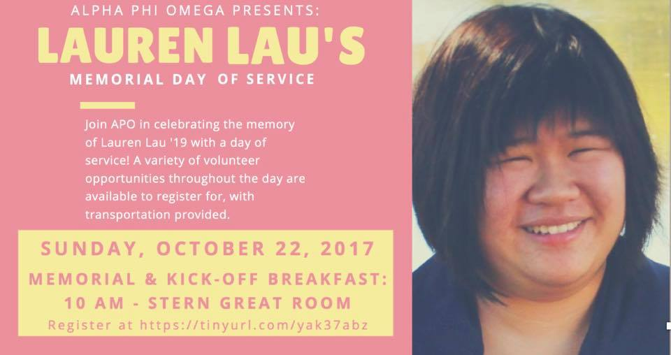 APO hosted a Memorial Day for Lauren Lau, who passed away last year.