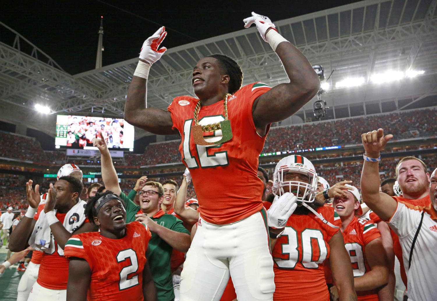 Miami Up to No. 4 in Playoff Rankings Projection After Upset Weekend