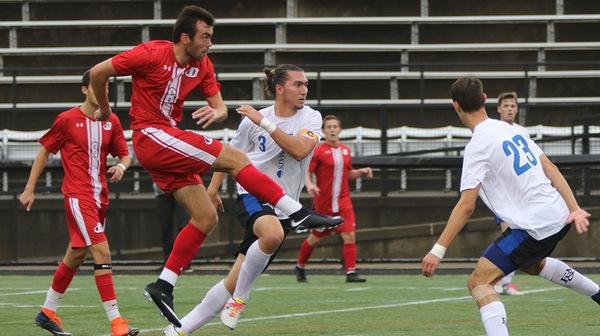 The Dickinson men's soccer team won a huge victory over nationally-ranked John's Hopkins on Friday night, November 3.