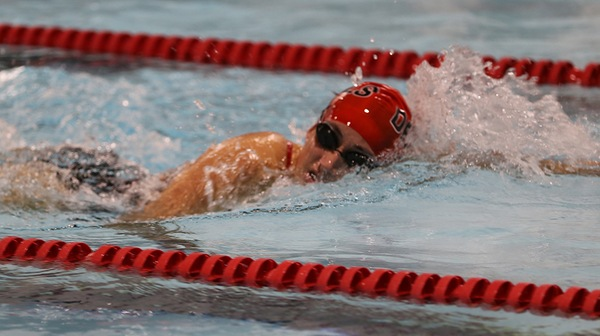 The Dickinson men's swim team topped the Royals of the University of Scranton last weekend.