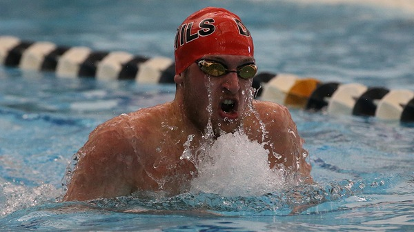 The Dickinson men's swim team won their tri-match against Wilkes and Lebanon Valley.
