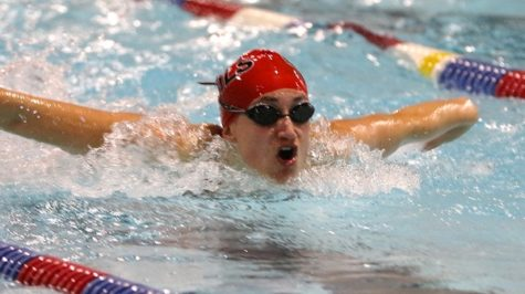 Men's Swim Drops Meet to Division-II Bloomsburg