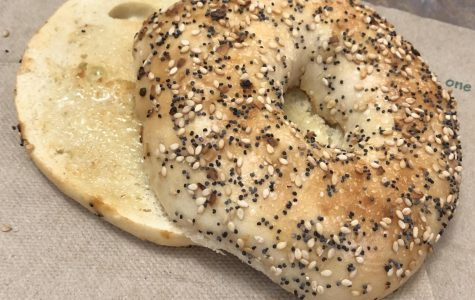 Caf Review: Toasted Everything Bagel with Butter