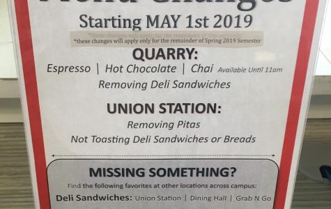 Menu Items Removed Due to Staff, Equipment Issues