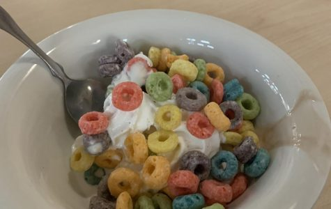 Caf Creation:  Frozen Yogurt with Cereal Topping