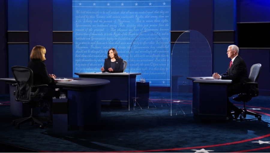 Left+to+Right%3A+Moderator+Susan+Page%2C+Senator+Harris%2C+and+Vice+President+Pence+at+the+2020+Vice-Presidential+Debate.+Courtesy+of+the+New+York+Times.