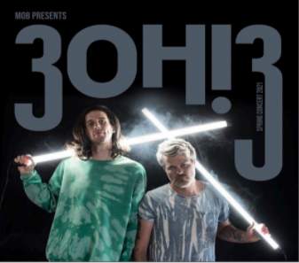 3OH!3 was selected to host a virtual concert for Dickinson on Mar. 6.